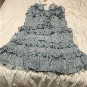 Rebecca Taylor 100%  Silk Ruffle Dress 6